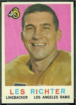 Les Richter 1959 Topps football card