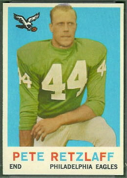Pete Retzlaff 1959 Topps football card