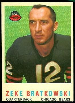 Zeke Bratkowski 1959 Topps football card