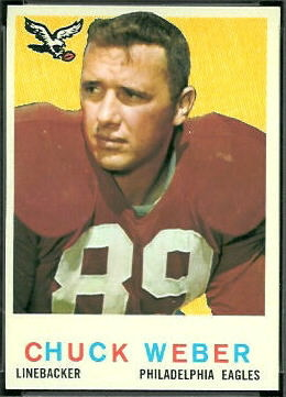 Chuck Weber 1959 Topps football card