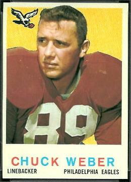 Chuck Weber 1959 Topps football card
