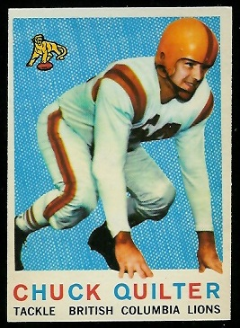 Chuck Quilter 1959 Topps CFL football card