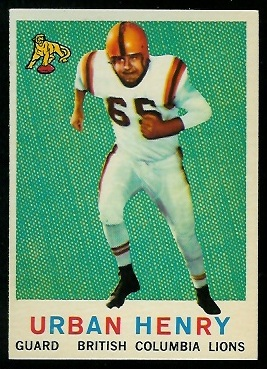 Urban Henry 1959 Topps CFL football card