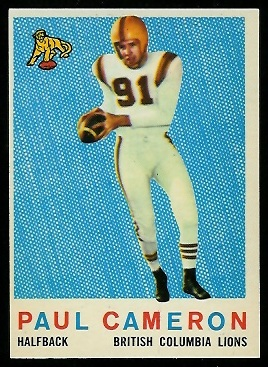 Paul Cameron 1959 Topps CFL football card