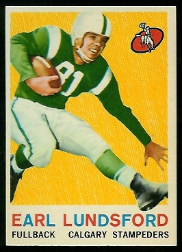 Earl Lunsford 1959 Topps CFL football card