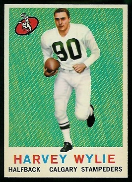 Harvey Wylie 1959 Topps CFL football card