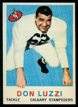 Don Luzzi 1959 Topps CFL football card