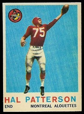 Hal Patterson 1959 Topps CFL football card