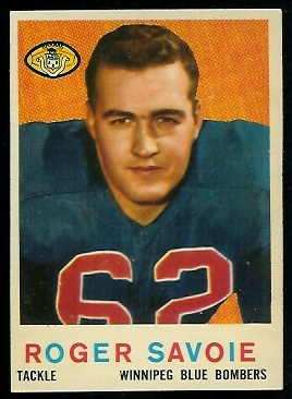 Roger Savoie 1959 Topps CFL football card