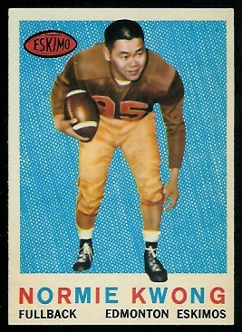 Normie Kwong 1959 Topps CFL football card