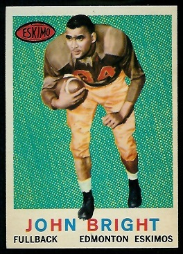 John Bright 1959 Topps CFL football card