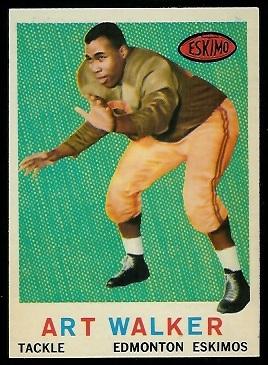Art Walker 1959 Topps CFL football card