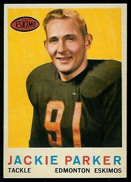 Jackie Parker 1959 Topps CFL football card