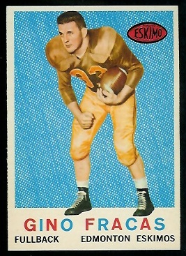 Gino Fracas 1959 Topps CFL football card