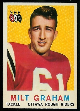 Milt Graham 1959 Topps CFL football card