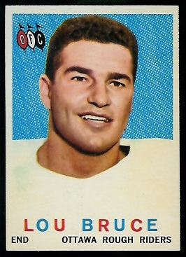 Lou Bruce 1959 Topps CFL football card