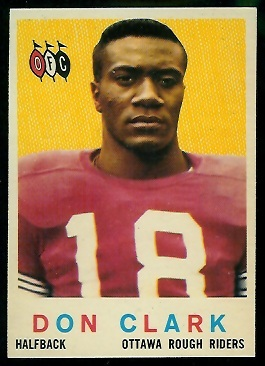 Don Clark 1959 Topps CFL football card