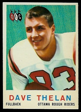 Dave Thelen 1959 Topps CFL football card