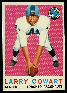 Larry Cowart 1959 Topps CFL football card