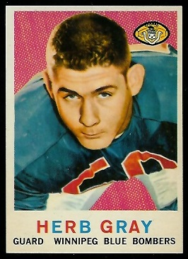 Herb Gray 1959 Topps CFL football card