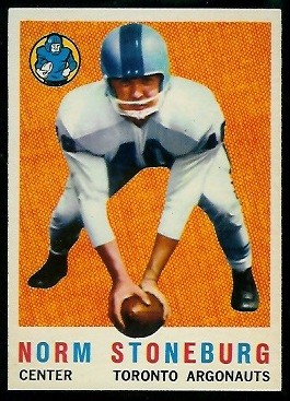 Norm Stoneburgh 1959 Topps CFL football card