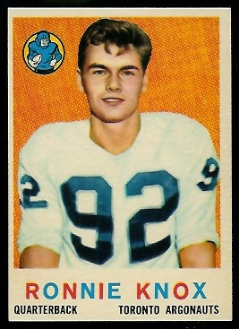 Ronnie Knox 1959 Topps CFL football card