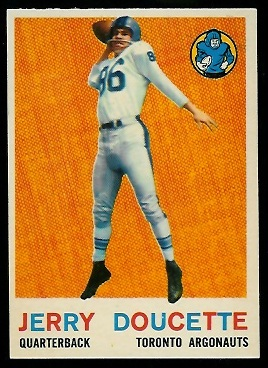 Jerry Doucette 1959 Topps CFL football card