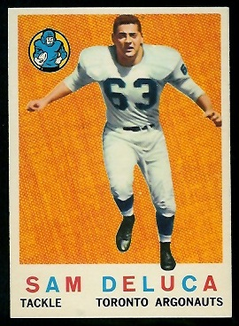 Sam DeLuca 1959 Topps CFL football card