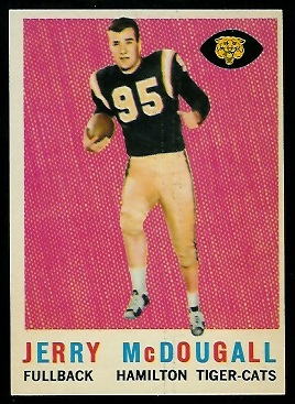 Gerry McDougall 1959 Topps CFL football card