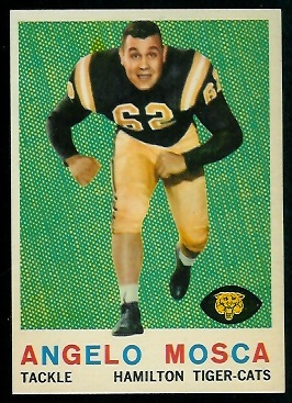 Angelo Mosca 1959 Topps CFL football card