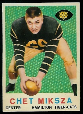 Chet Miksza 1959 Topps CFL football card