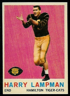 Harry Lampman 1959 Topps CFL football card