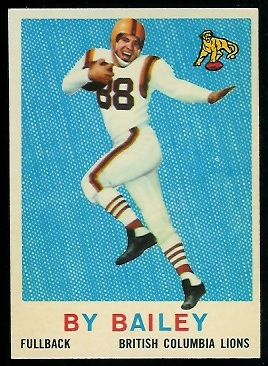 By Bailey 1959 Topps CFL football card