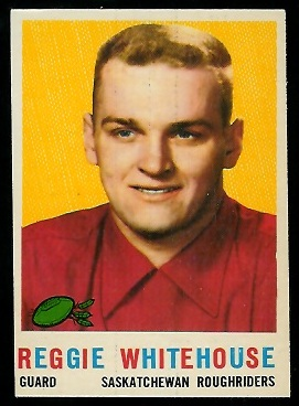Reg Whitehouse 1959 Topps CFL football card