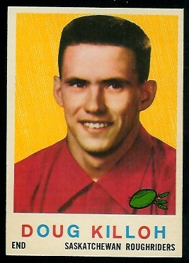 Doug Killoh 1959 Topps CFL football card