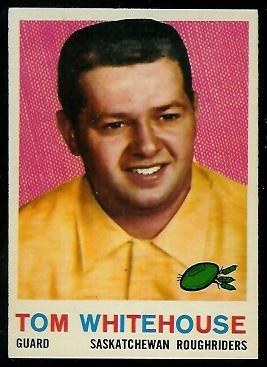 Tom Whitehouse 1959 Topps CFL football card