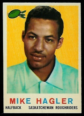 Mike Hagler 1959 Topps CFL football card