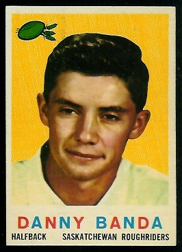 Danny Banda 1959 Topps CFL football card
