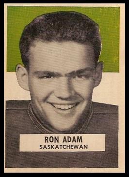 Ron Adam 1959 Wheaties CFL football card