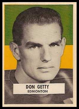Don Getty 1959 Wheaties CFL football card