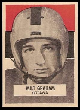 Milt Graham 1959 Wheaties CFL football card