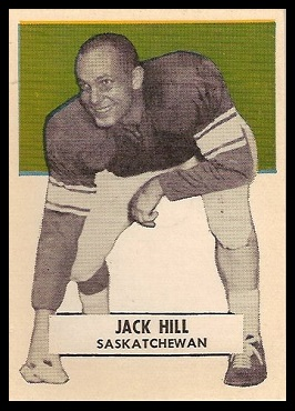 Jack Hill 1959 Wheaties CFL football card