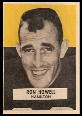 Ron Howell 1959 Wheaties CFL football card