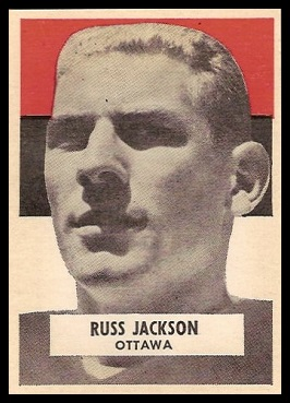 Russ Jackson 1959 Wheaties CFL football card