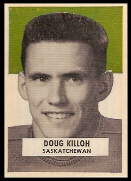 Doug Killoh 1959 Wheaties CFL football card