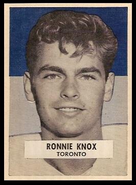 Ronnie Knox 1959 Wheaties CFL football card