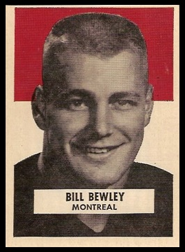 Bill Bewley 1959 Wheaties CFL football card