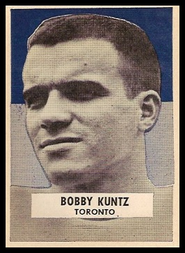 Bobby Kuntz 1959 Wheaties CFL football card