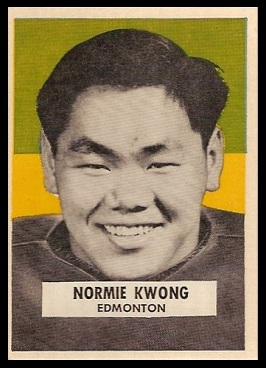 Normie Kwong 1959 Wheaties CFL football card