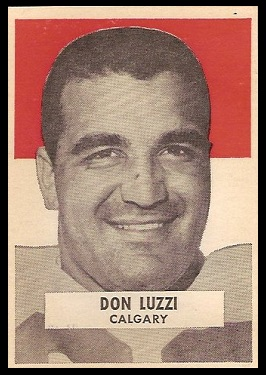 Don Luzzi 1959 Wheaties CFL football card